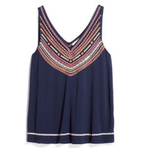 THML Stitch Fix Exclusive Navy embroidered top